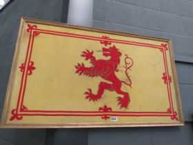 Screen print of a Scottish heraldic flag