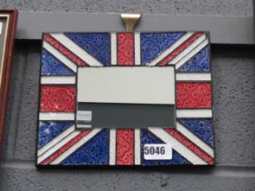 Union Jack enamelled glass mirror