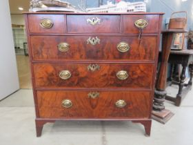 Georgian walnut chest of drawers