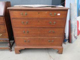Georgian oak chest of 4 drawers
