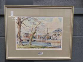 David Green print of Bedford Bridge