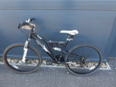 Black child's mountain bike