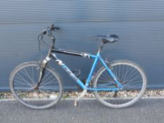 Black and blue gents mountain bike