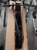 Boxed electric scooter with charger