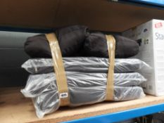 Qty of black garden cushions