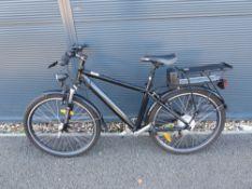 Black gents electric bike