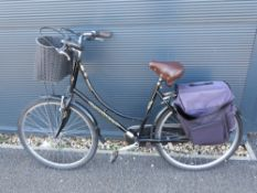 Ammaco ladies bike with panniers and front basket