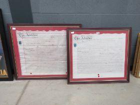 2 Framed and glazed indentures