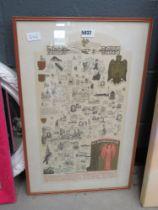 Framed and glazed Bedfordshire print