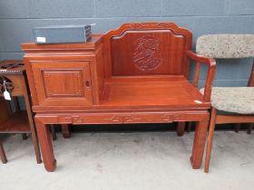 Chinese inspired telephone seat