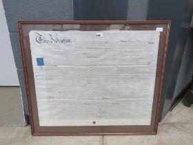 Framed and glazed indenture