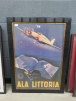 Italian aviation poster Reproduction