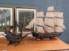 2 models; Gun frigate and Galleon