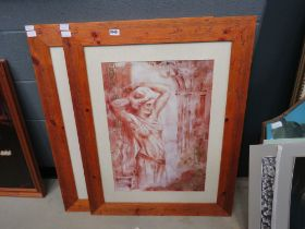 Pair of framed and glazed classical prints