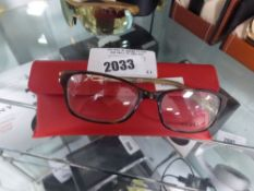 2259 - Pair of Guess reading glasses with red hard case