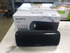 Sony SRS-XB31 portable bluetooth speaker with box