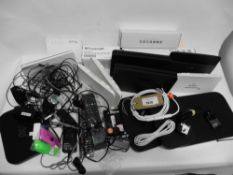 Bag of various Sky, BT, Plusnet routers etc, remotes, cables, Ricoh printer cartridge etc