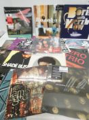 Box containing quantity of LP and 45 records to include AC/DC, Tyler the Creator, Bonobo and others