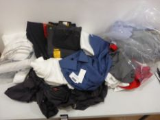 Bag containing men's clothing to include underwear, t-shirts, polo shirts etc