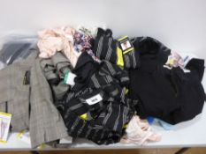 Bag containing ladies clothing to include tops, trousers, shorts, loungewear etc