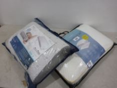 Bagged Dormeo octasense pillow with a snuggle down breathable pillow