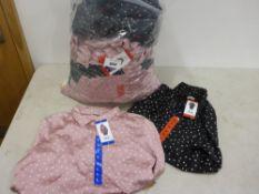 Bag containing ladies top by Jackson New York black polka dots and pink polka dots