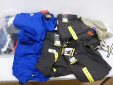Bag containing men's clothing to include trousers, t- shirts, shorts etc