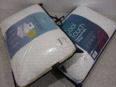 Two snuggle down memory foam breathable pillows