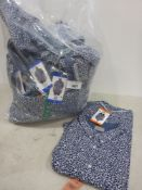 Bag containing men's floral short sleeved shirts by Jackson New York, various sizes