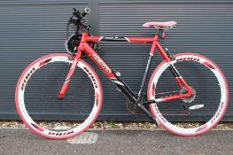 Teman red and black racing cycle