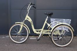 Yellow Scott fold up tricycle
