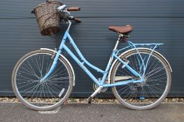 Pendelton blue ladies bike with front basket