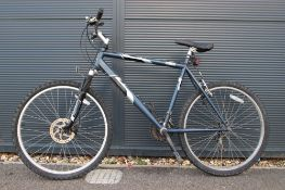 Blue Raleigh mountain bike