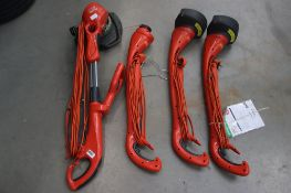 4 Flymo electric strimmers