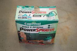 WITHDRAWN 4216 - Cuprinol sprayer and a Flymo strimmer