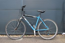 4028 - Ideal blue and black mountain bike