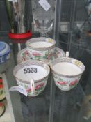 Small quantity of Aynsley china inc. teacups, tea bowl and saucers