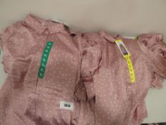 Bag containing selection of Jach's Girlfriend blouses, various sizes, all tagged in pinkl with white