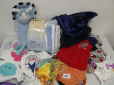 Bag containing a selection of children's and babies clothing and other items including Little