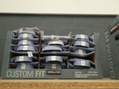 Box of approx 35. Kirkland shirts in box, various designs and sizes