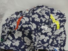 Bag containing qty of Jachs Girlfriend blouses, blue with floral design, various sizes, all tagged