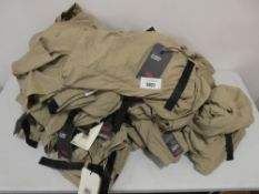 Bag containing amount of Levi's climber shorts in khaki, in various sizes, all tagged
