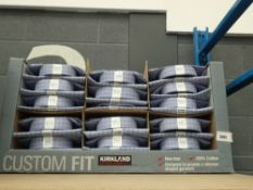 Approx.35 blue check Kirkland shirts, boxed, various sizes