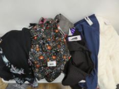 Selection of ladies clothing, all tagged including Hilary Radley trousers, Jach's Girlfriend top, 32