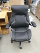 Black and grey high back executive style swivel armchair