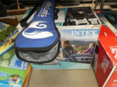 Intex inflatable canoe with bagged paddles
