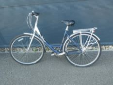 Silver and blue Giant ladies cycle