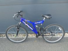 Blue child's mountain cycle