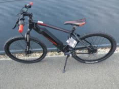 Lombardo black and red electric cycle with charger