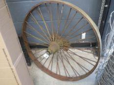 vintage spoke wheel